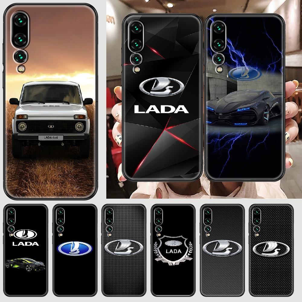 Sport Car LADA logo Phone case For Huawei P Mate P10 P20 P30 P40 10 20 Smart Z Pro Lite 2019 black p