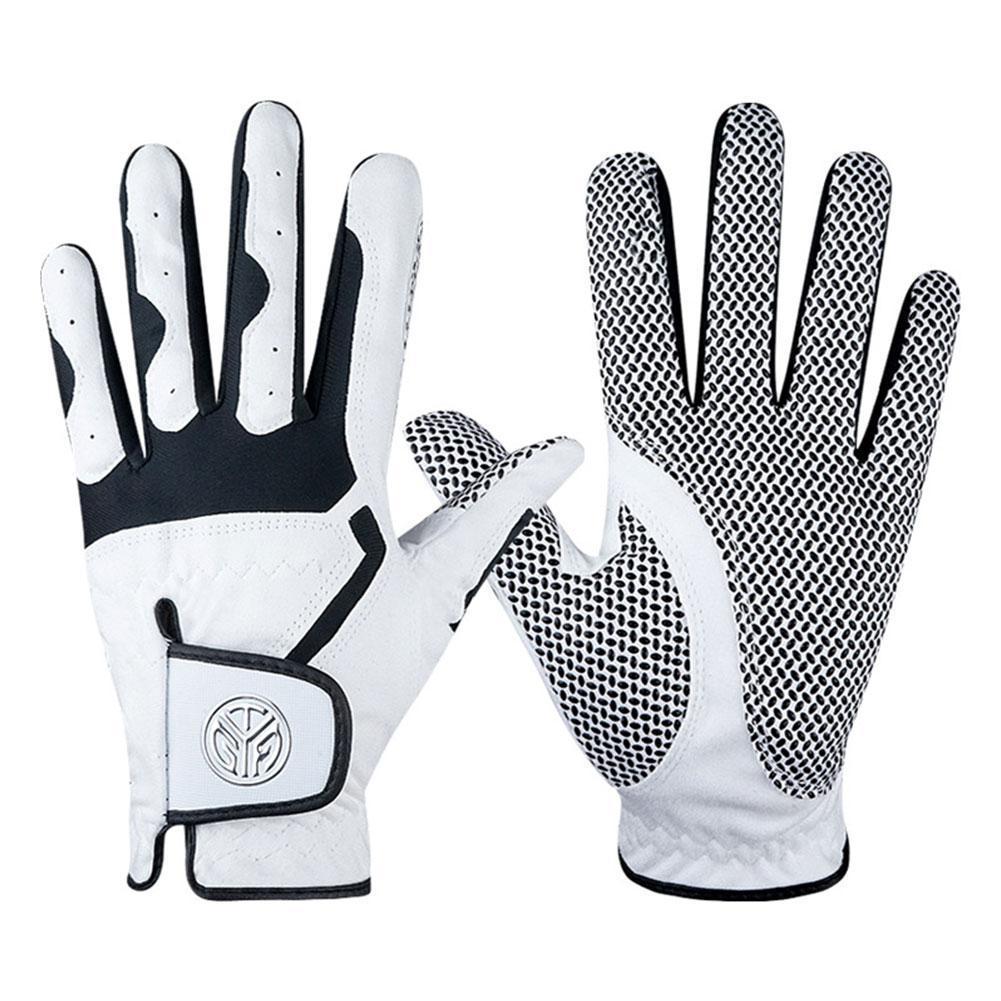 1 Pcs Men's Left Hand Golf Glove Right Hand Micro Soft Gloves White Golf Grey Color Golf Fiber Mens