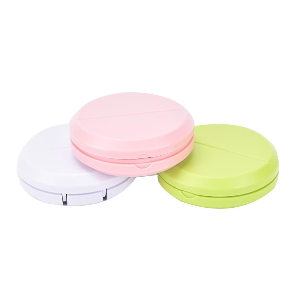 Organizador portátil para caja de almacenamiento de separador de medicamentos, tableta para píldoras, cortador de píldoras, divisor de Material PP en 3 colores