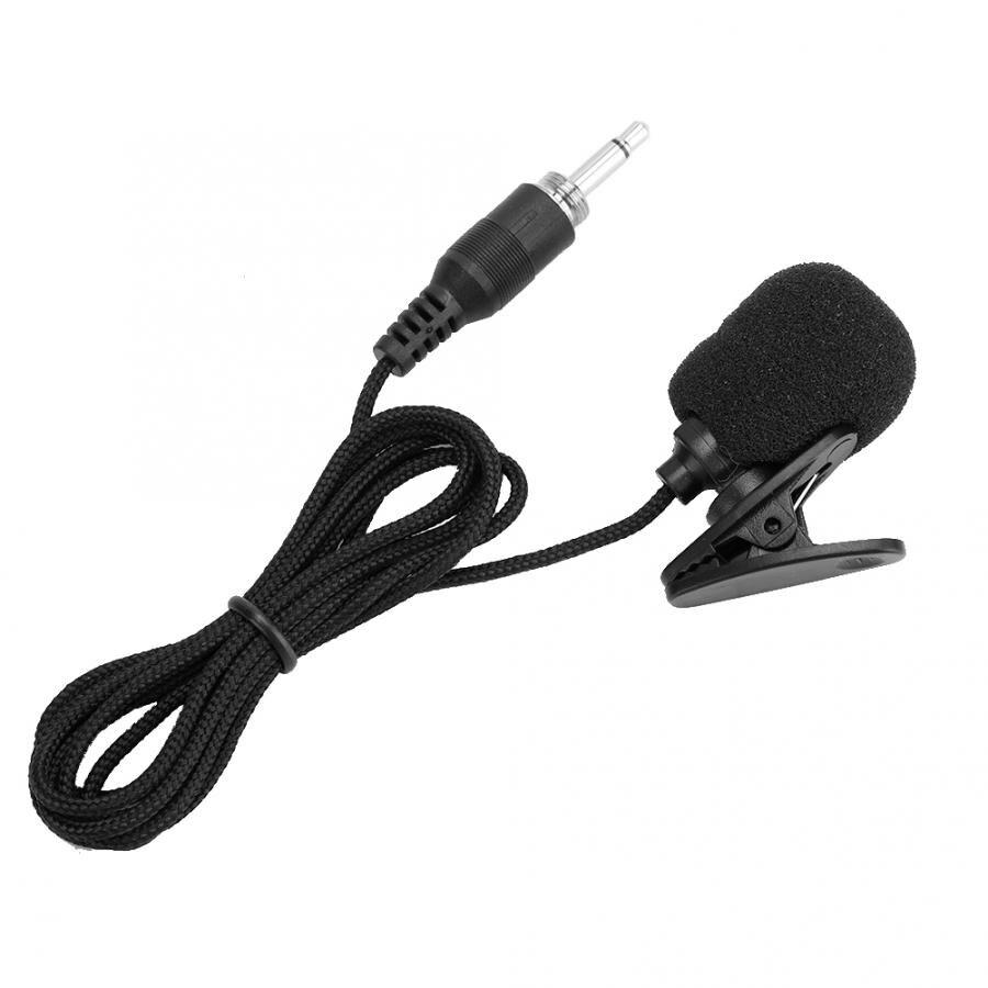 3 uds 04A compacto profesional Mini 3,5mm tornillo enchufe micrófono cableado solapa Collar Clip amplificador Mic