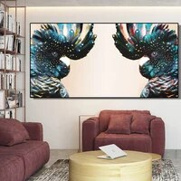 couple cockatoo poster animal print spray art canvas painting modern wall art prints bedside decoration picture for living room