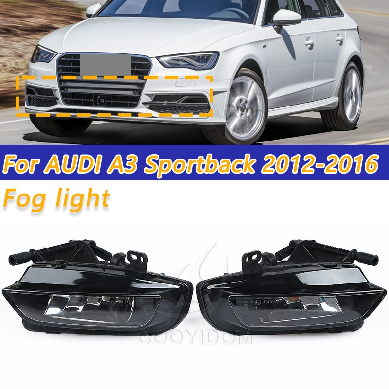 Lámpara de niebla para conducción COOYIDOM L & R para AUDI A3 8V RS3 S3 Hatchback 12-16 8V0941699 8V0941700