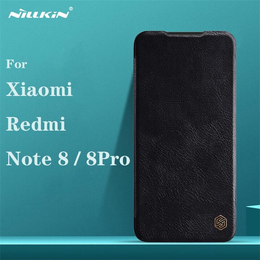 Pour Xiaomi Redmi Note 8 Pro étui à rabat Nillkin Qin Vintage en cuir couverture à rabat carte poche portefeuille étui pour Redmi Note8 sacs de téléphone