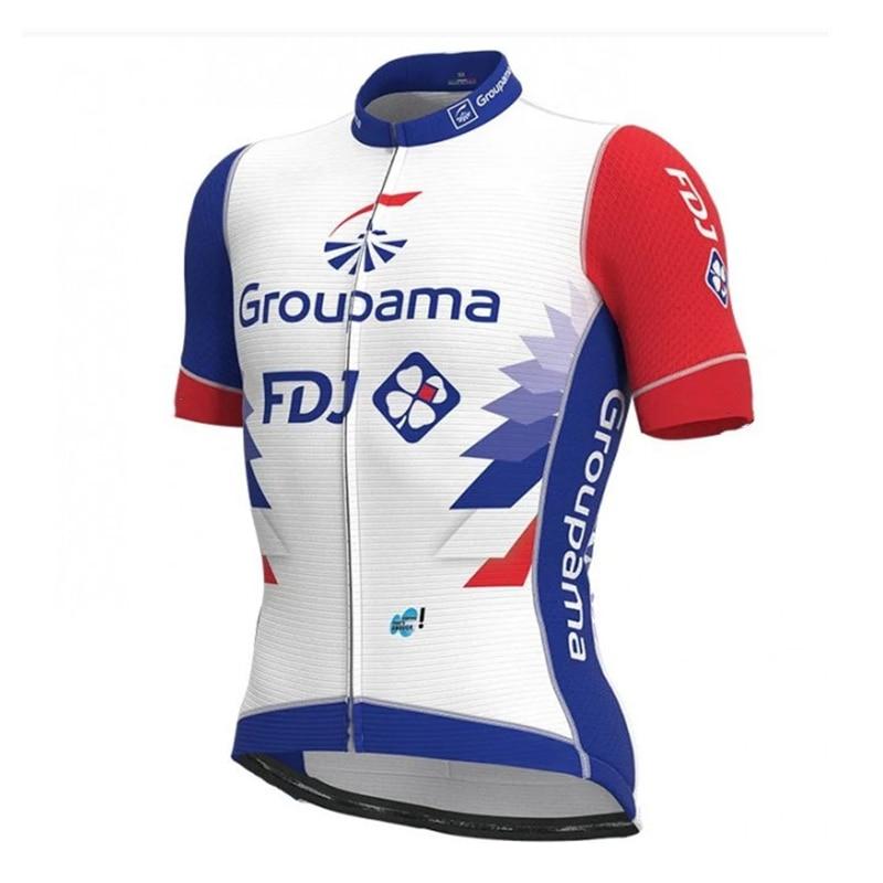 2021 FDJ cycling summer short sleeves bib shorts men bike uniform roadbike bicycle clothing maillot ciclismo pro team mtb suit
