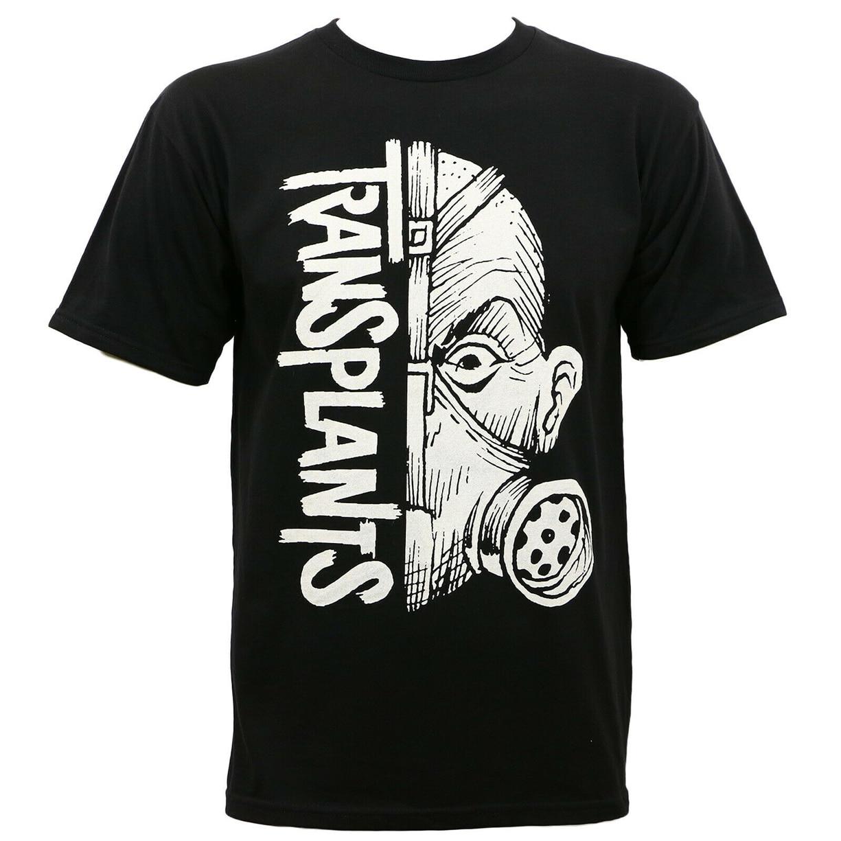 Authentic TRANSPLANTS Band Half Mask T-Shirt Black S M L XL 2XL NEW Tee Shirt Streetwear Fashion Casual Plus-Size