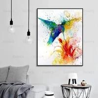 Peinture sur toile moderne et minimaliste  oiseaux  fleurs  Graffiti  affiches dart murales  imprimes de mode  decoration de maison  cadeaux de chambre a coucher