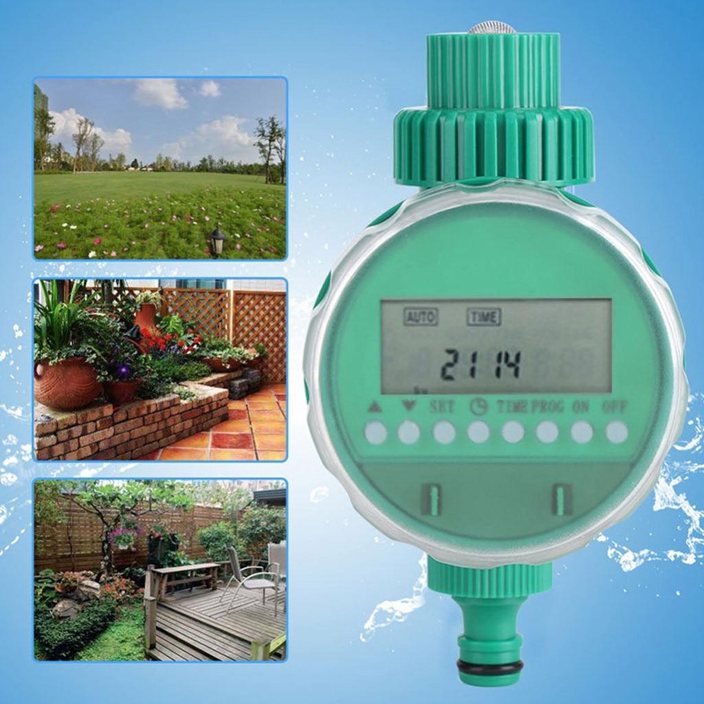 صمام ري إلكتروني, شاشة LCD الموقت صمام الكرة التلقائي المنزل المياه وقت الري حديقة مؤقت مياه نظام التحكم في الري