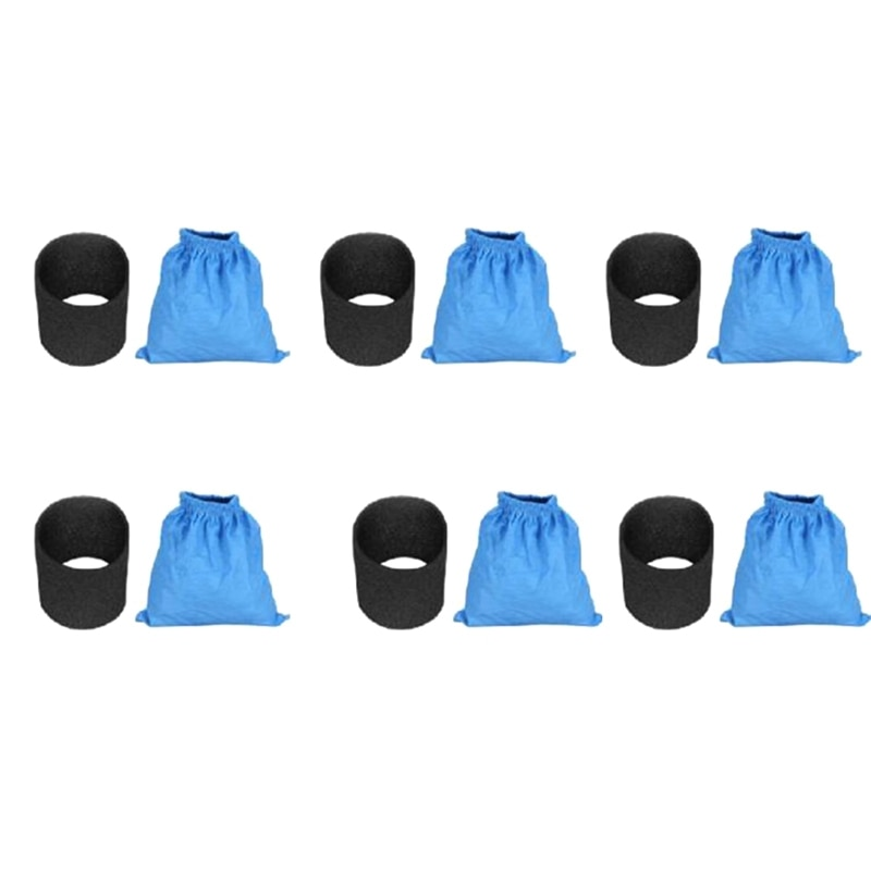 1 مجموعة النسيج كيس مرشح s الرطب والجاف فلتر فوم ل Karcher MV1 WD1 WD2 مكنسة كهربائية كيس مرشح مكنسة كهربائية أجزاء