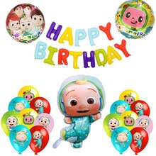 Cocomelon Balloons Family Party Birthday Decoration Baby Shower Party Supplies Latex Balloon Set Kid