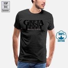 Greta Van flotte taille S à Xxxl blanc t-shirt hommes imprimé t-shirt été décontracté