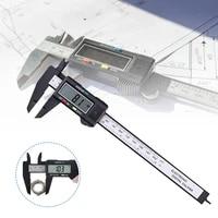 150mm 6 inch electronic plastic digital caliper carbon fiber vernier caliper gauge micrometer digital ruler measuring tool