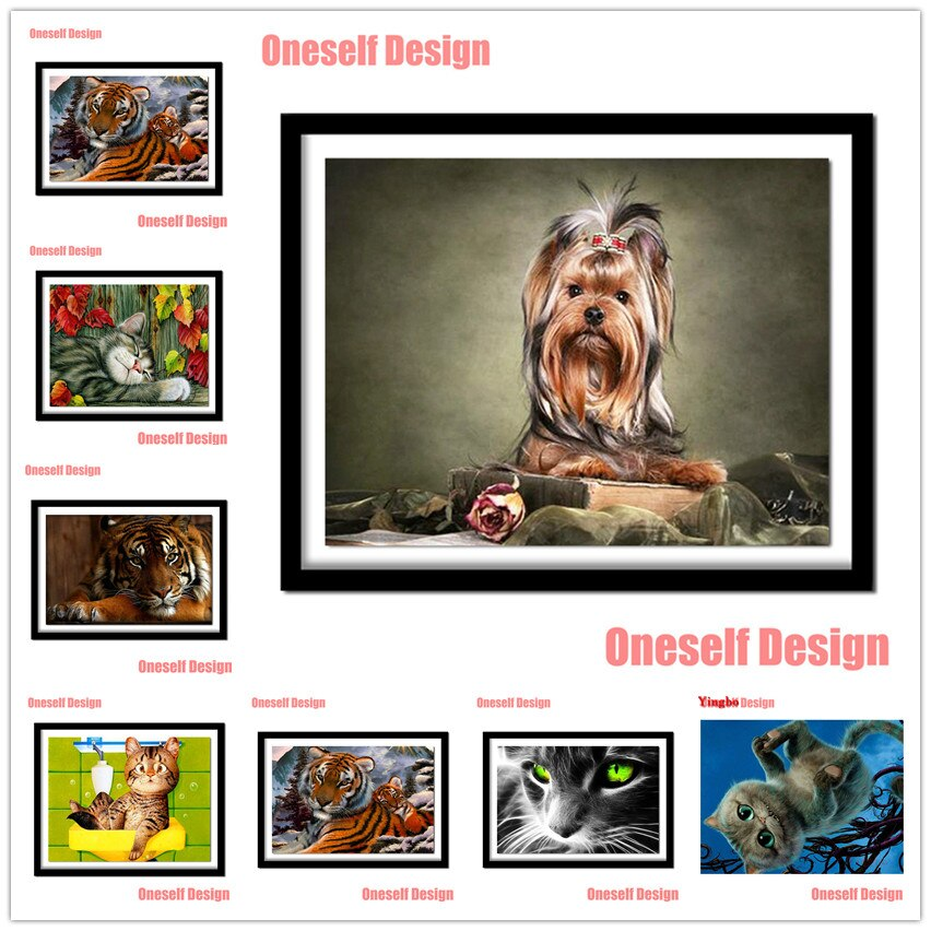 2020 gran oferta pintura de diamantes 5d perro completo 5d bordado de diamantes conjunto completo animal 5d mosaico de diamantes Decoración Adhesivo de pared de casa
