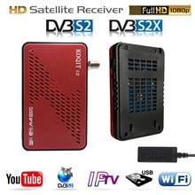 Koqit u2 satellit réception Récepteur DVB-S2 DVB-S2X récepteur de télévision par satellite iPTV wifi Finder DVB S2 Décodeur Arnaque/iks Biss VU Youtube
