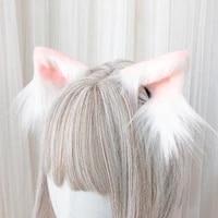 original cat ears cos harajuku cute hair accessories hairpin plush animal ear lolita animal ear