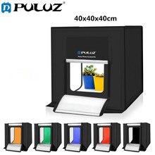 Puluz 40*40 Cm Mini Studio Diffuse Soft Box Lightbox Met Led Licht Tafelblad Schieten Fotostudio Doos Met 6 Kleur Achtergronden