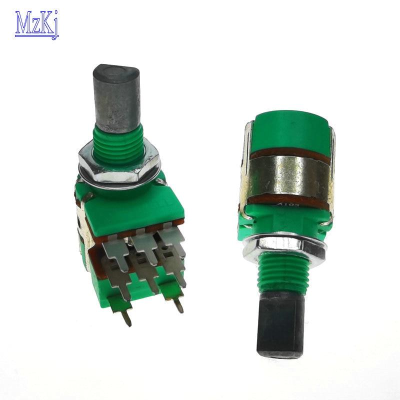 10 шт. популярный новый H120 стерео канал с переключателем A50K A10K 15 мм полувальный объемный потенциометр