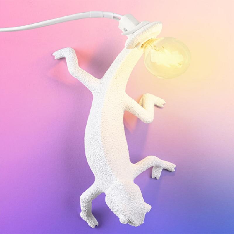 Nordic Seletti Lizard Table Lights Cute Resin Animal Chameleon Bedside LED Lamp Bedroom Living Room Home Deco Light Fixture