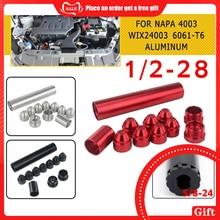 11 pièces 1/2-28 5/8-24 filtres à carburant filtre à solvant 1X6 pour NAPA 4003 WIX 24003 6061-T6 filtres Automobiles pièces noir SR