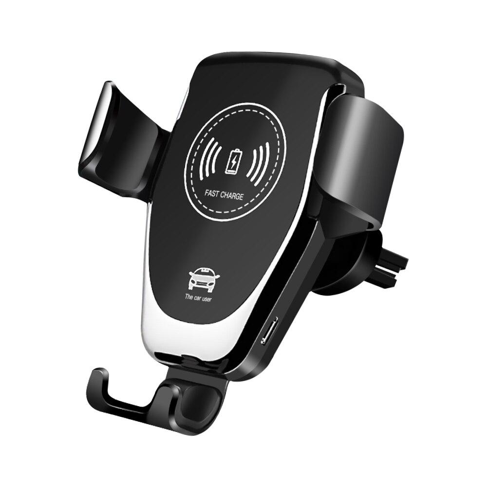 Soporte para coche Meeker gravedad carga inalámbrica para teléfono en clip para salida de aire de coche soporte para teléfono móvil para iPhone 11 Pro Samsung
