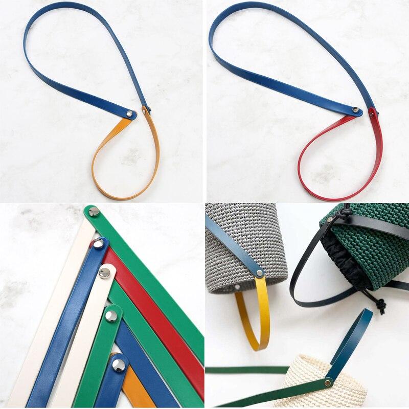 Bolsa de couro alça de ombro alça ajustável colorido alça de ombro para diy kit tecido artesanal saco acessórios