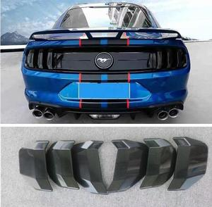 6pcs ABS Black Rear Trunk Tail Film Smoke Shade Lamp Light Cover For Ford Mustang 2015 2016 2017 / 2018 2019 2020 Year