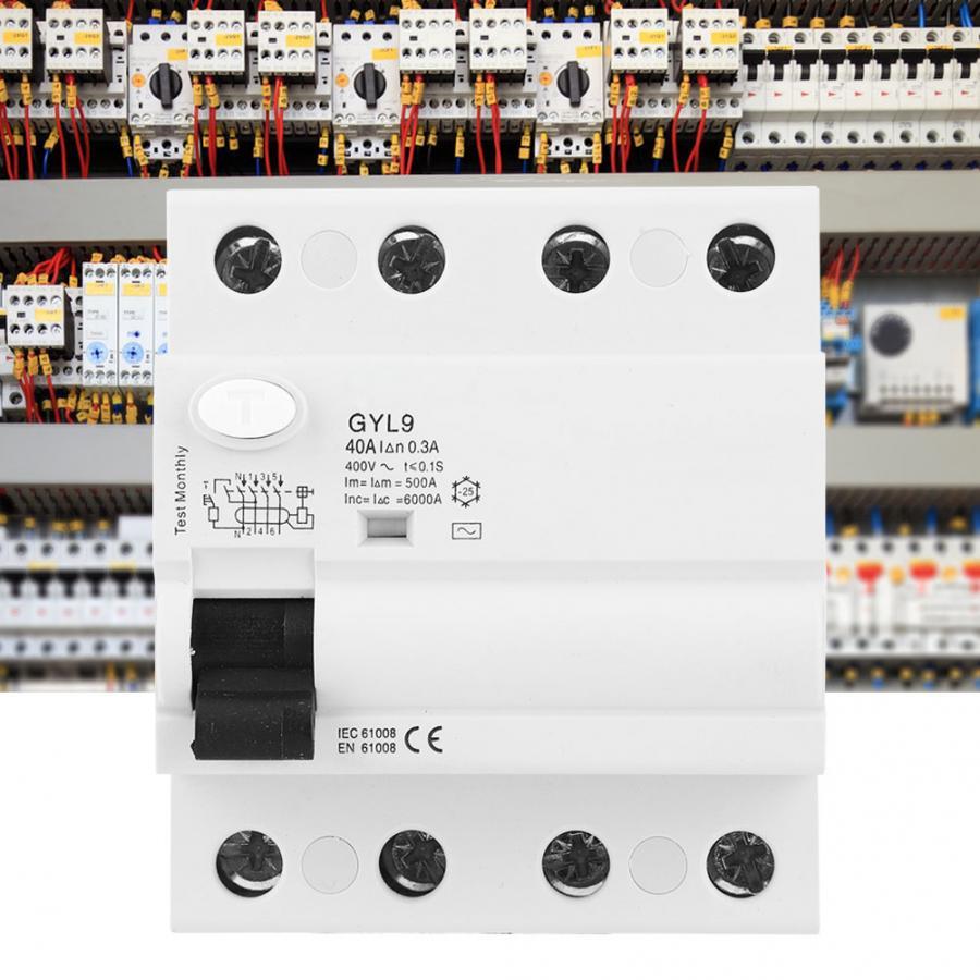 Disyuntor de corriente Residual GYL9 Disyuntor de corriente 4P 400V 50/60Hz IP20