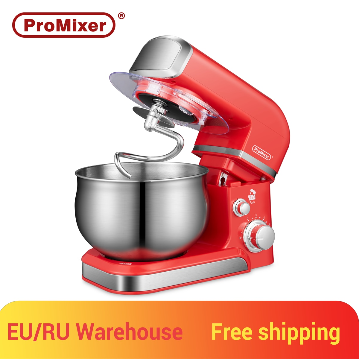 ProMixer,Q4,Stand Mixer,Kitchen-Robot,Kneading/Mixing-Machine,Blender,4L,700W,6speed,INOX,Stainless Steel,Bowl,Cream,Egg,Cake
