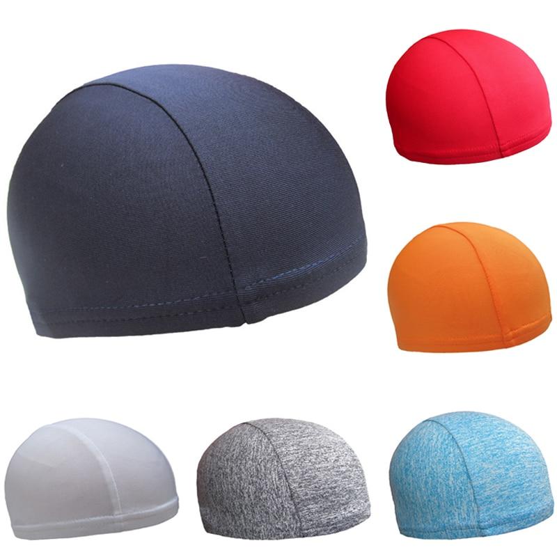 Novo unissex men primavera sob capacete boné correndo ciclismo capacete forro crânio gorro chapéu de secagem rápida esporte tampas
