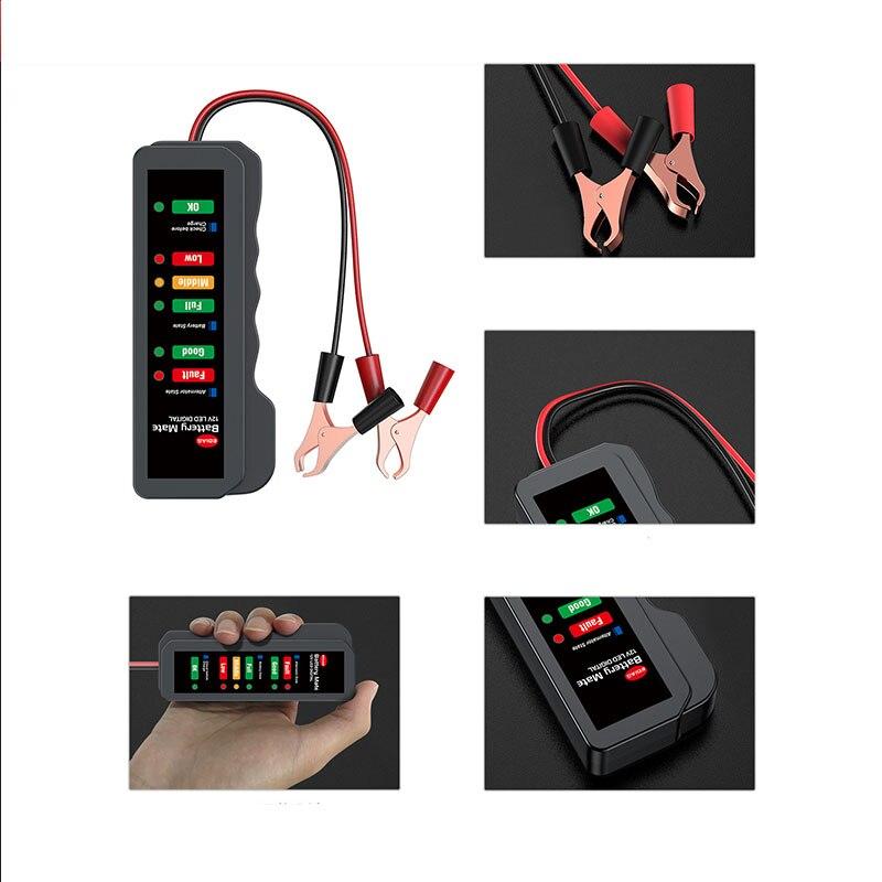 Probador de batería de coche BM310 Mini 12V alternador automático Digital 6...