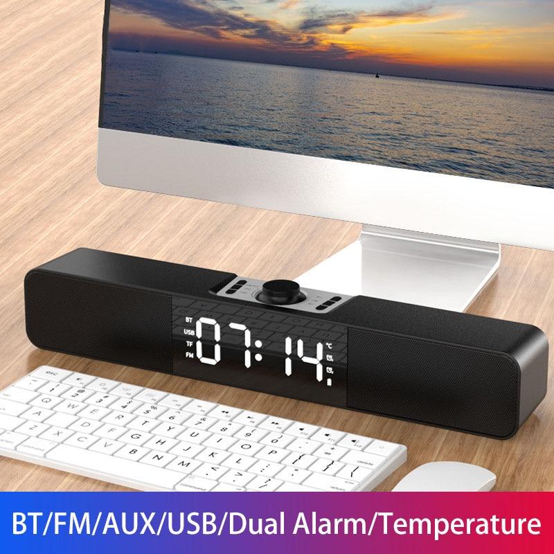 Altavoz Bluetooth con Barra De Sonido LED, dispositivo con pantalla De tiempo...