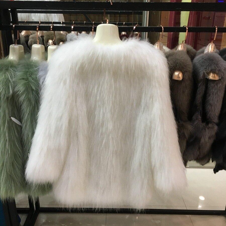 9 Colors Women Whole Skin Fox Fur Jacket  Weave Warm 2020 Winter Ladies Waistcoat Raccoon Fur Swell Cardigan Handwork Long Coat enlarge