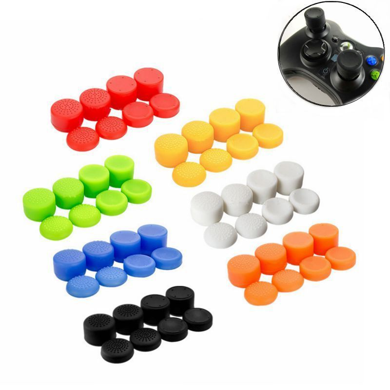 8 pçs para ps4 ps3 xbox 360 controlador capa de proteção de silicone caso antiderrapante polegar vara apertos polegar joystick tampa