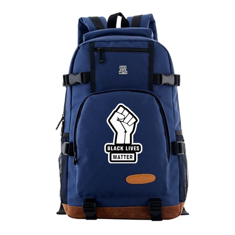 2020 Unisex de Black Lives Matter Casual mochila montaña escalada bolsa gran capacidad mochila trabajo portátil bolsas