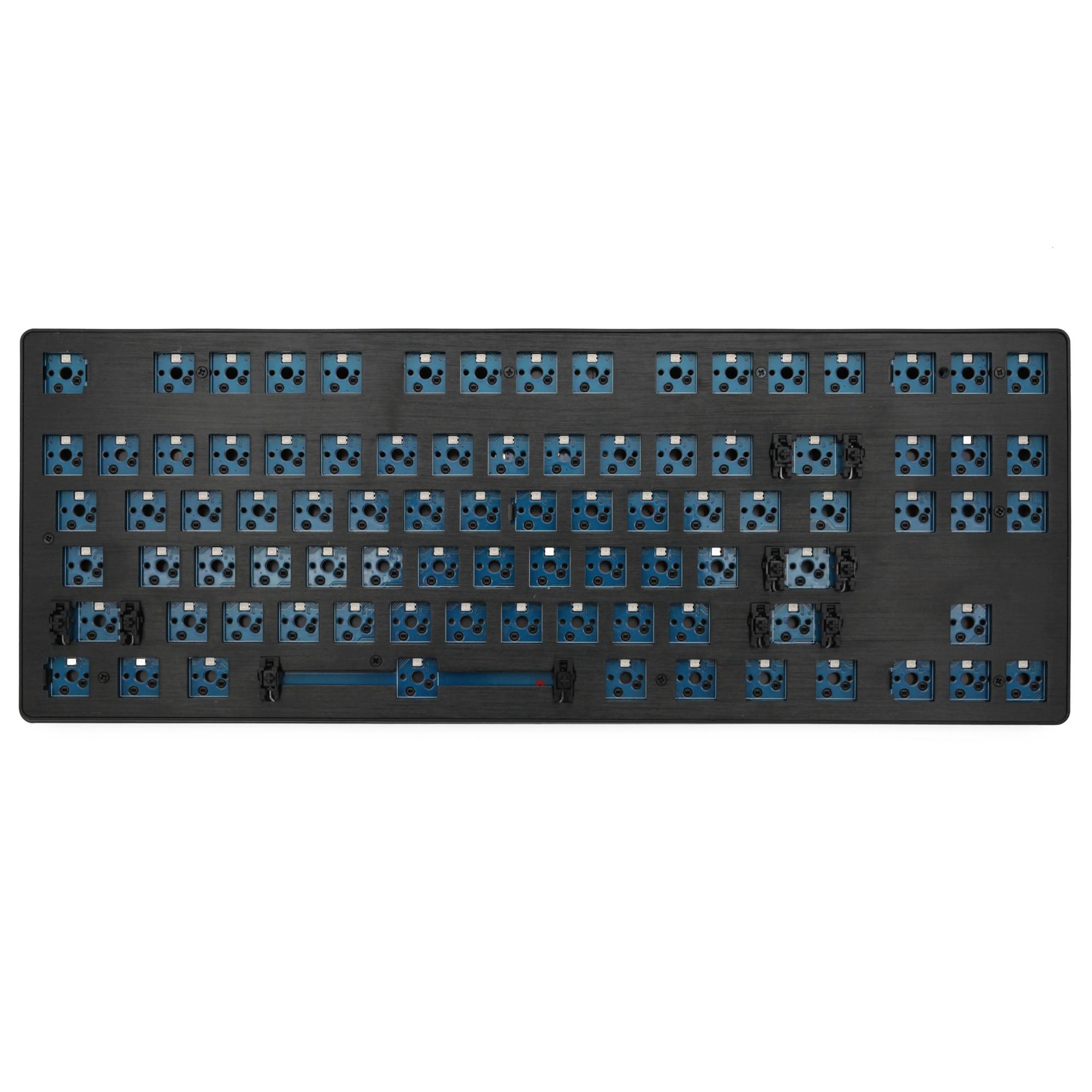 Smart Duck xs87 87-لوحة مفاتيح ميكانيكية ذات 87 مفتاحًا ، مجموعة 80% TKL ، مفتاح قابل للتبديل السريع ، تأثير الإضاءة ، مفتاح RGB ، led ، نوع c ، برنامج ماكرو