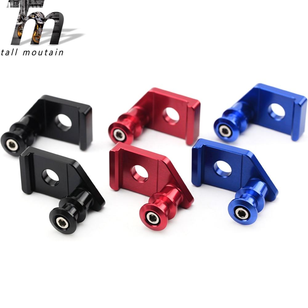 Swingarm Spools Slider Stand For YAMAHA MT-15 M-SLAZ YZF-R15 V3 YZF R15 YZFR15 MT15 2017-2020 Chain Adjuster Bracket Support