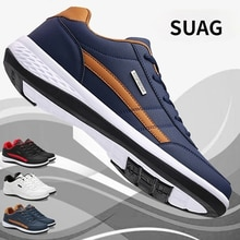 2021 New Fashion Men Sneakers for Men Casual Shoes Breathable Lace Up Mens Casual Shoes Spring Leath