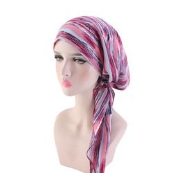 Helisopus novo pré-amarrado turbante flor impresso quimio beanies bonnet caps perda de cabelo headscarf acessórios para cabelo feminino