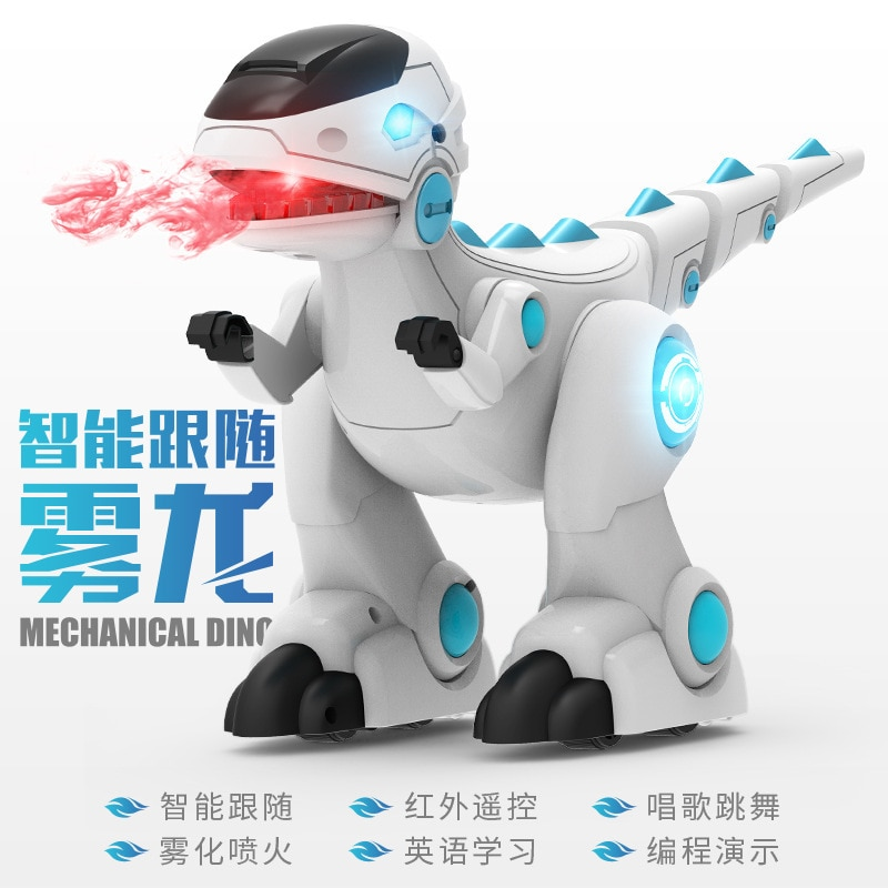 Spray remote control intelligent robot dinosaur robot toy singing, dancing, story telling, early learning machine