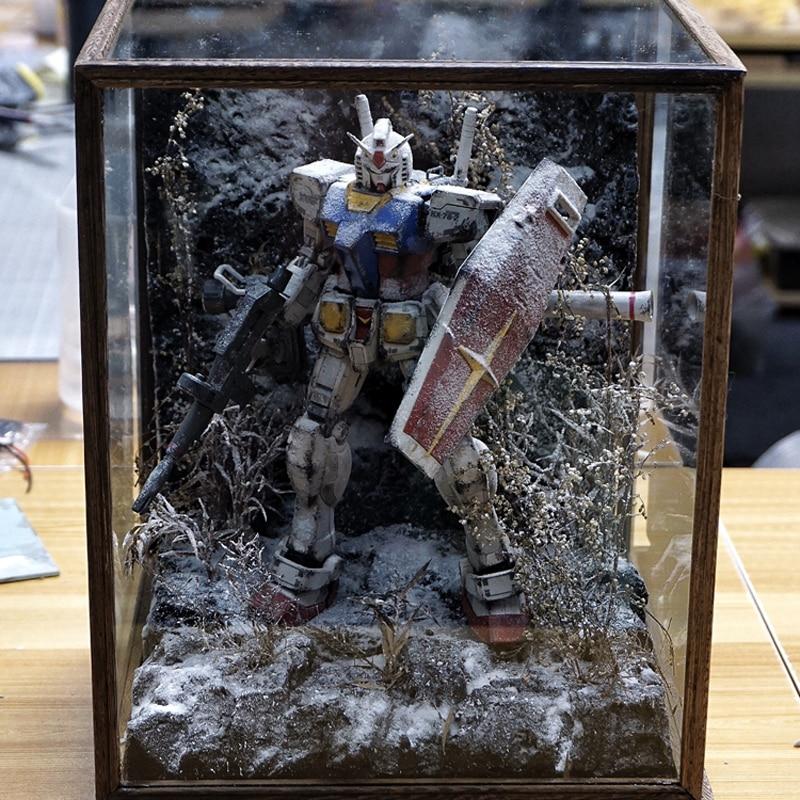 BANDAI PG 1/60 Mobile Suit RX-78 Gundam 27CM Aza Scene Statue Action Toy Figures Gifts Pre-sale