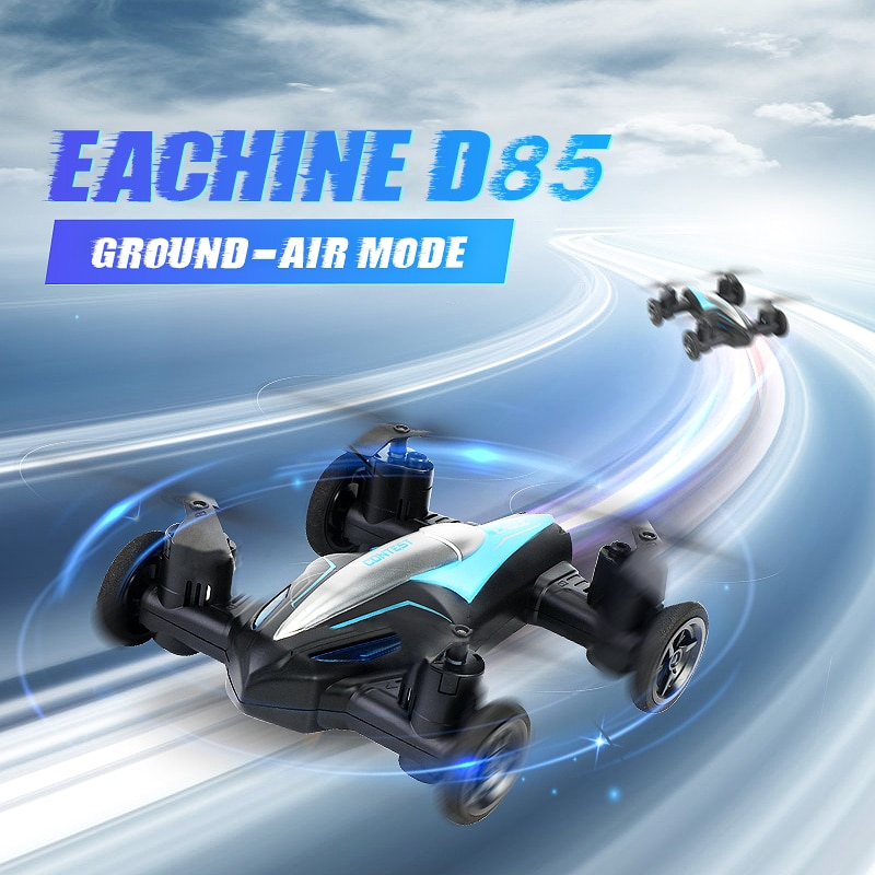 Eachine D85 2-in-1 RC Drone Helicopter Land And Air 2.4G Dual Mode UAV Professional Flying Dron Quadcopter Driving RC Cars Toys