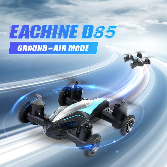 Eachine D85 2in1 Dron Air-Ground Flying Car 2.4G Dual Mode Racing Mini Drone Professional RC Car Quadcopter Drones Children Toys 8