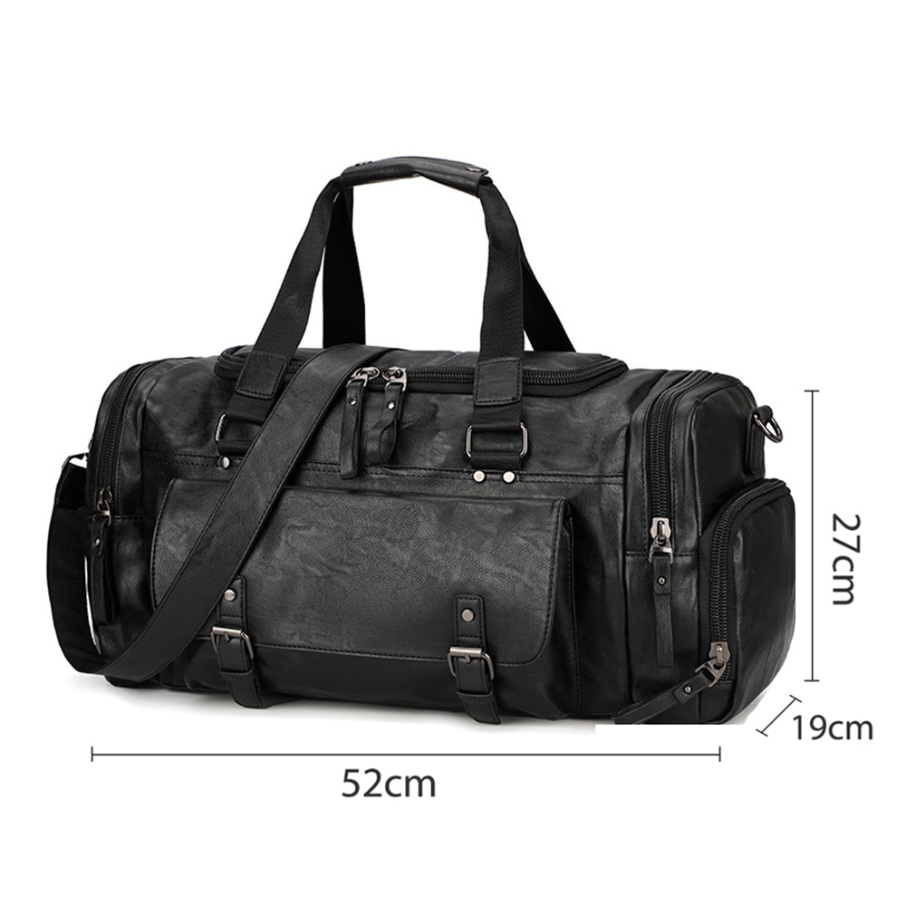 Sport Men Gym Bag Women Handbag Fitness PU Leather Traveling Bags Shoulder Tote for Shoes Tas Sac De Sporttas Gymtas New XA282D