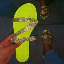 2020 frauen Sommer Flache Bling Hausschuhe Transparent Weiche Gelee Schuhe Weibliche Flip-Flops Sandalen Outdoor Strand Damen Rutschen 37- 42