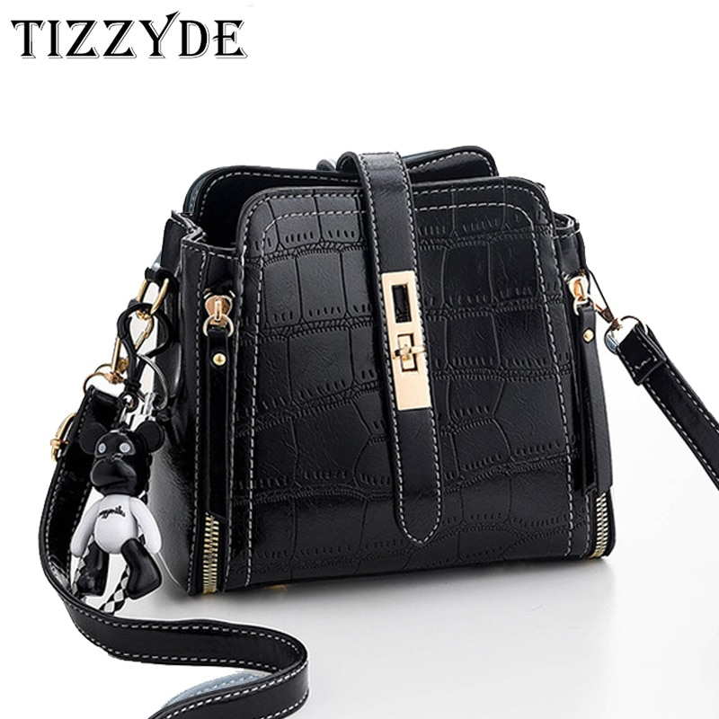 Bags For Women 2020 Crocodile Bucket Crossbody Bag Lady Small Purses and Handbags Designer Shoulder Messenger Bags Black WY0372