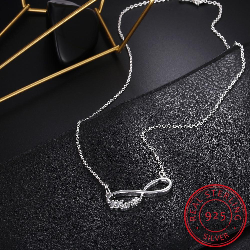 Новый-925-стерлингового-серебра-18-дюймов-мама-кулон-ожерелье-для-женщин-Модные-женские-балетки-Шарм-ювелирные-изделия-дать-подарок-для-мате