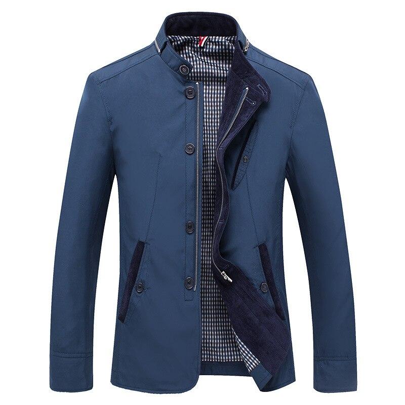 Мужская брендовая качественная деловая повседневная куртка мужская однотонная куртка весна-осень новая мужская приталенная куртка 2021