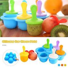 Moule à Popsicle 7 cellules Mini Silicone moules à crème glacée bricolage bébé complément alimentaire outil fruits secouer moule à crème glacée moules faits maison