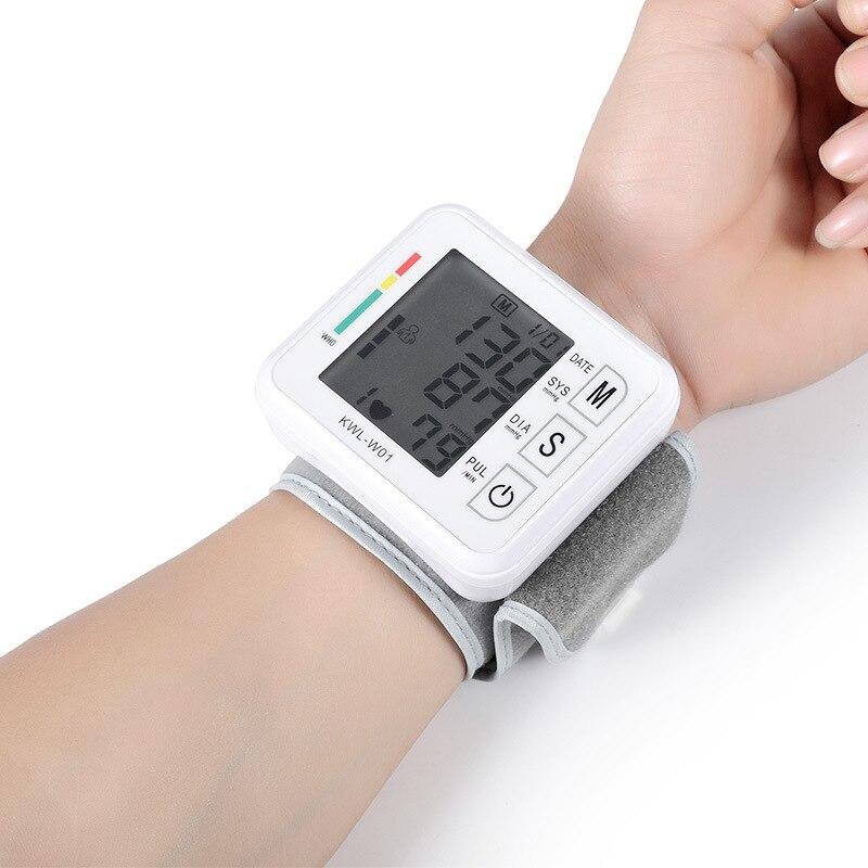 Pulso automático esfigmomanômetro inglês voz transmissão monitor de pressão arterial freqüência cardíaca tonômetro bp monitores