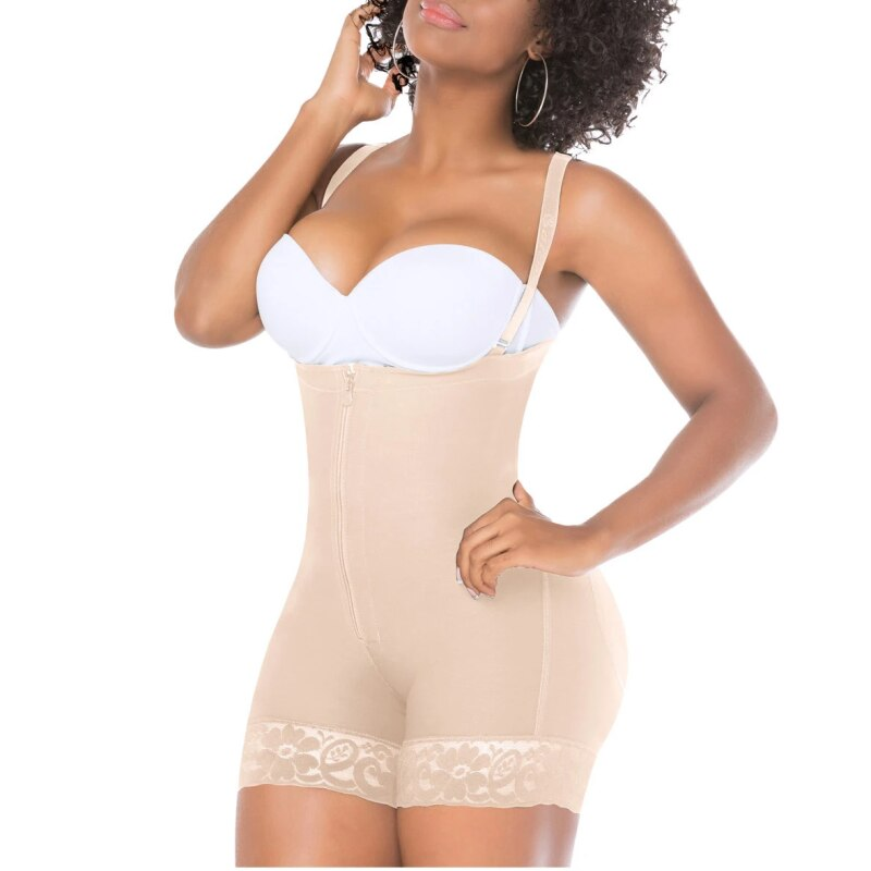 Butt Lifter Shaper Panty-Length Compression Girdle High-Back Bodysuit Slimmer Body Shaper Shorts For Women