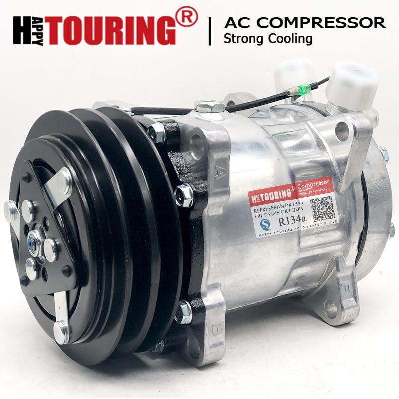 SD7H15 12V AC Compressor sanden sd7h15 4663 4779 6036 8104 8258 7863 7867 8024 8031 8062 132 milímetros AA PV2 12V